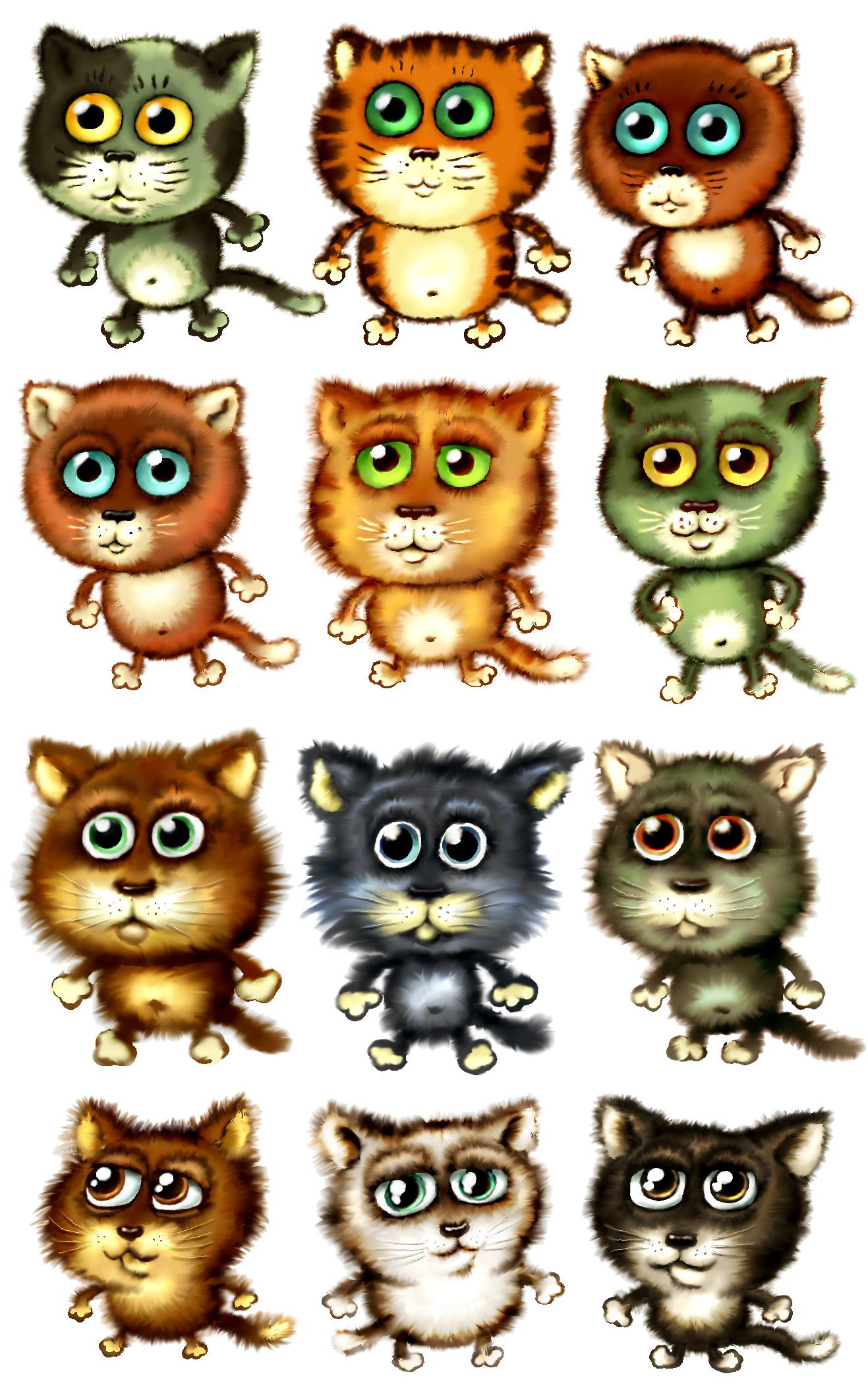 Нарисованные картинки котят прикольные